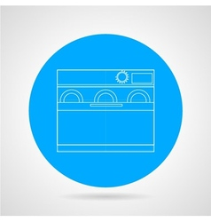 Dishwasher machine flat line icon vector