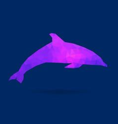 Dolphin polygon silhouette vector
