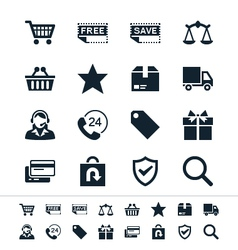 E-commerce icons vector image