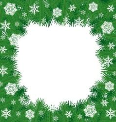 fir border vector image vector image