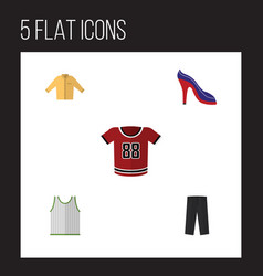 Flat icon dress set of singlet t-shirt banyan vector