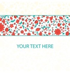 Flowers text placeholder vector