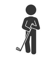 Golf player pictogram icon vector