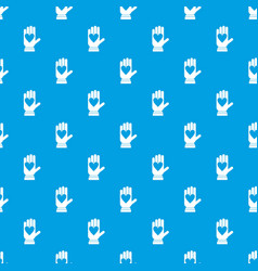 hand with heart pattern seamless blue vector image