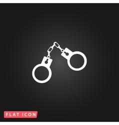 handcuffs flat icon vector image vector image