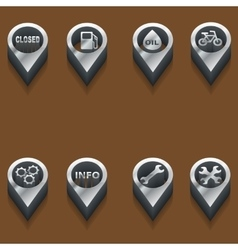 Icons automotive and car theme vector