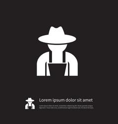 isolated fruit-grower icon gardener vector image