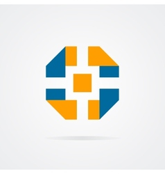 logo of camera shutter vector image