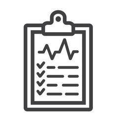medical clipboard line icon medicine vector image vector image