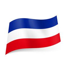 National flag of former state yugoslavia blue vector