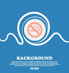 No smoking sign icon blue and white abstract vector