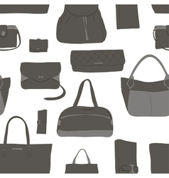 Pattern with different women bags vector image vector image