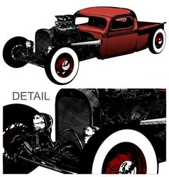 Rat Rod vector image