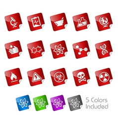 Science Stickers vector image vector image