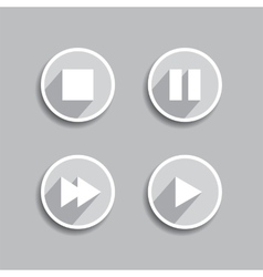Set of different media icons vector image