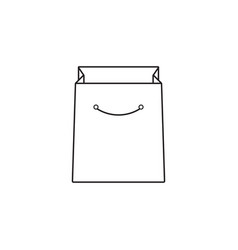 shopping bag line icon outline vector image vector image