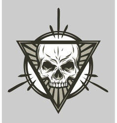 Skull and geometric elements vector
