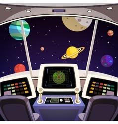 Spaceship cartoon interior vector