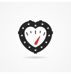 Steampunk heart vector image vector image