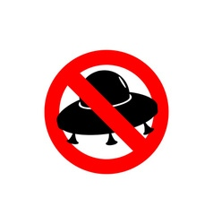 Stop UFO Prohibited from flying saucer Frozen vector image