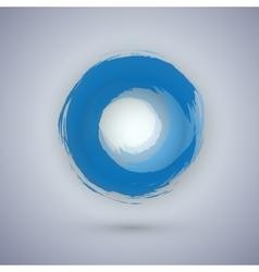 Watercolor Ink Circle Texture Logo vector image