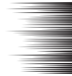 Horizontal speed lines for comic books vector image