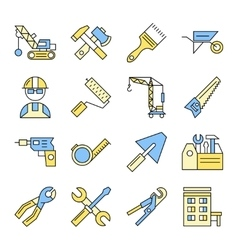 Building tools icon set vector