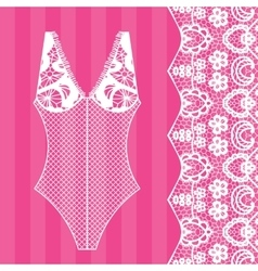 Body lingerie vector