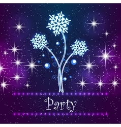 Merry christmas party card vector
