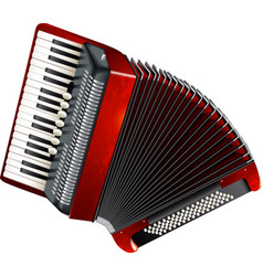 Classical accordion isolated on white background vector image
