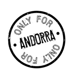 Only for andorra rubber stamp vector
