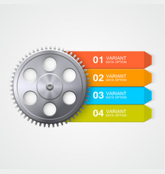 gear color infographics vector image