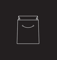 shopping bag line icon outline vector image