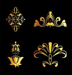 Set of ornate ornaments perfect vector