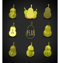 Pear sign vector