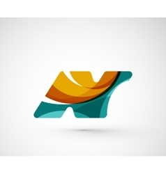 Abstract geometric company logo n letter vector