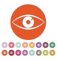 The eye icon eye symbol flat vector