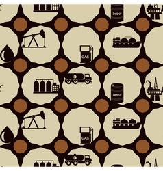 Seamless background with oil and petroleum theme vector