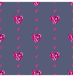 Background with bright pink hearts vector