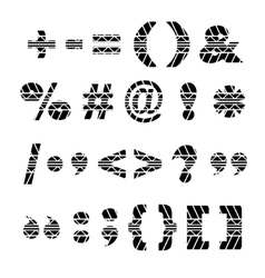 Tire track black symbols vector