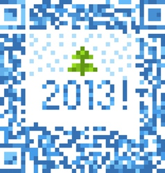 Abstract christmas background of qr-code vector