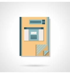 Accounting book flat color icon vector