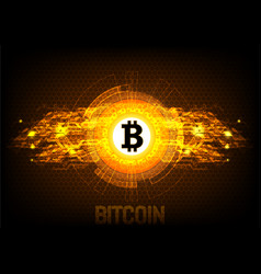 bitcoin digital currency futuristic digital money vector image vector image