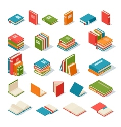 Books isolated vector image