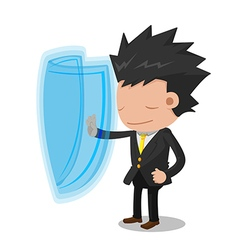 Business Man Suit Stop Protect vector image vector image