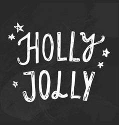 christmas chalk lettering vector image