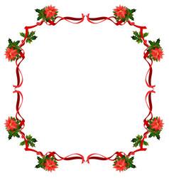 christmas ribbon frame vector image