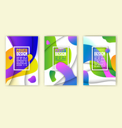colorful cover design vector image