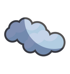 cute natural cloud weather icon vector image vector image