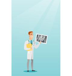 Doctor examining a radiograph vector